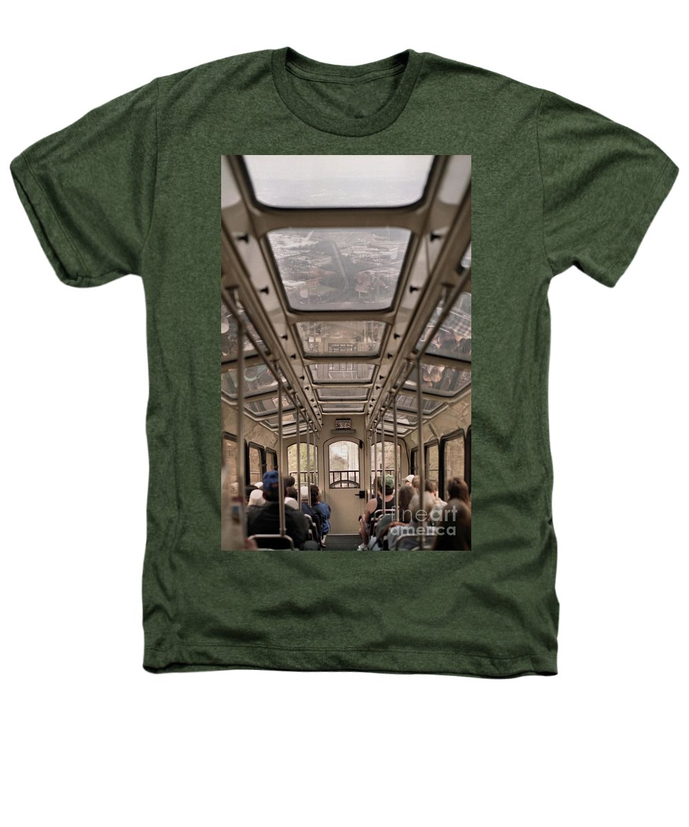 Cable Car Heathers T-Shirt featuring the photograph Going Down by Richard Rizzo