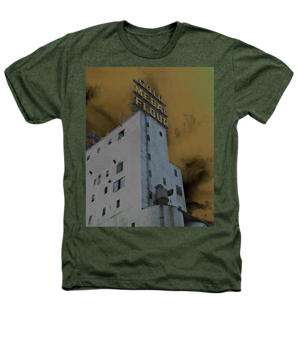 Minneapolis Heathers T-Shirt featuring the photograph Gold Medal Flour by Tom Reynen