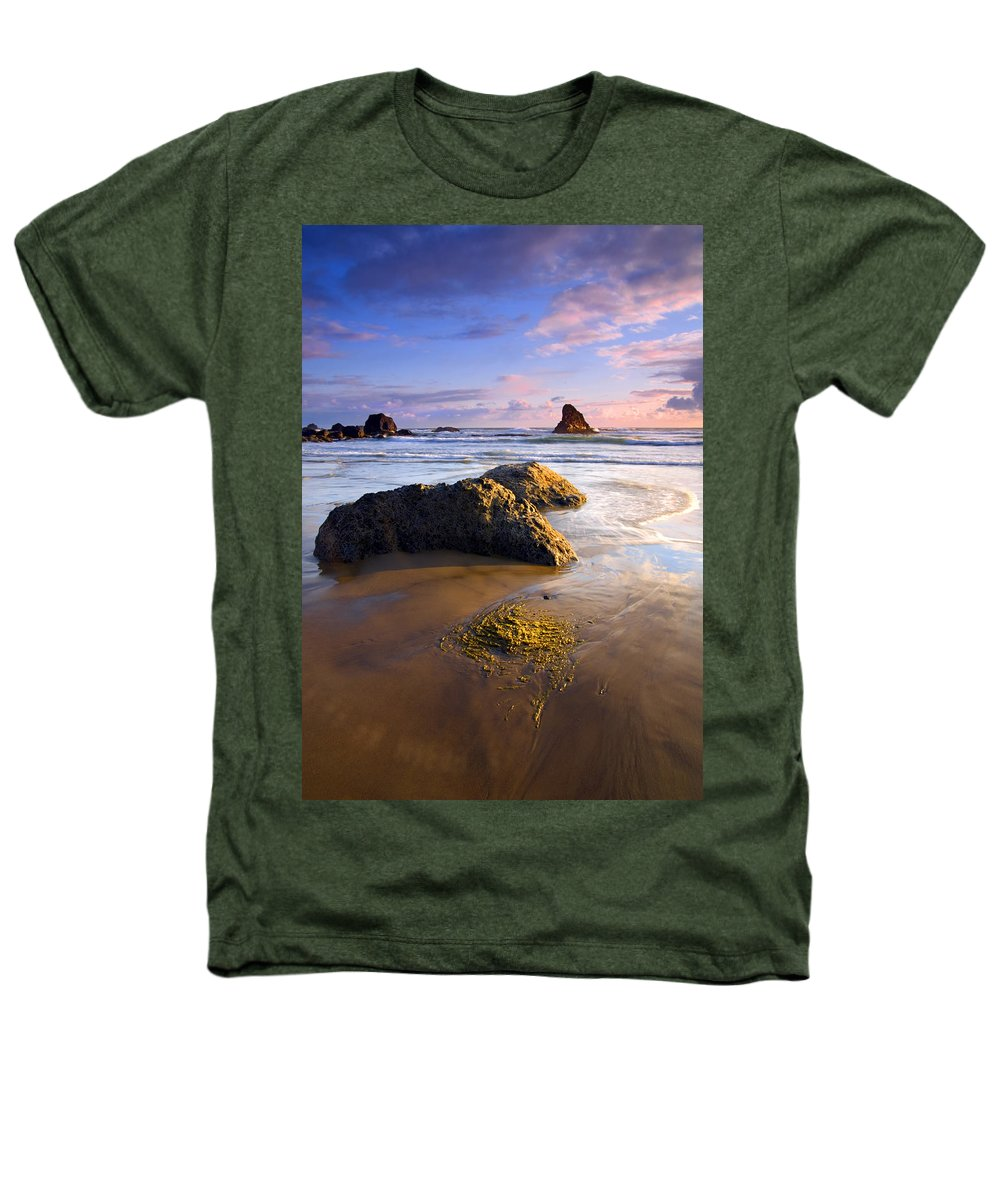 Beach Heathers T-Shirt featuring the photograph Golden Coast by Mike Dawson