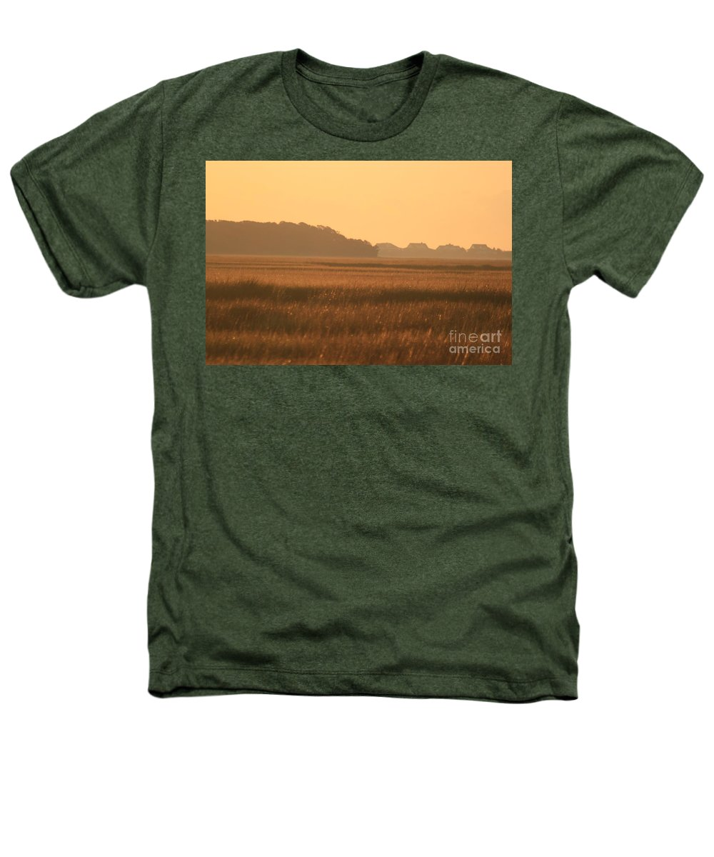 Marsh Heathers T-Shirt featuring the photograph Golden Marshes by Nadine Rippelmeyer