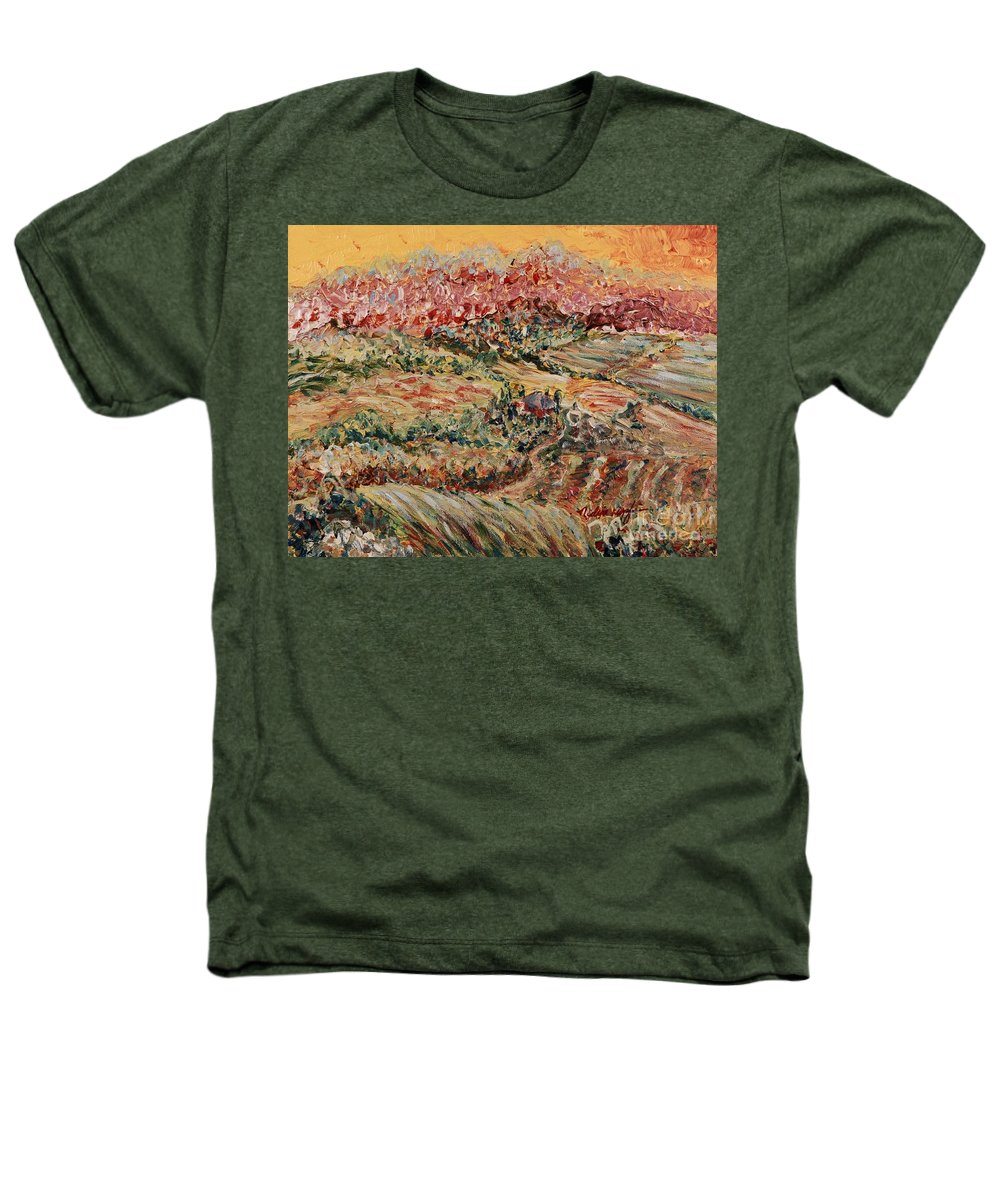 Provence Heathers T-Shirt featuring the painting Golden Provence by Nadine Rippelmeyer