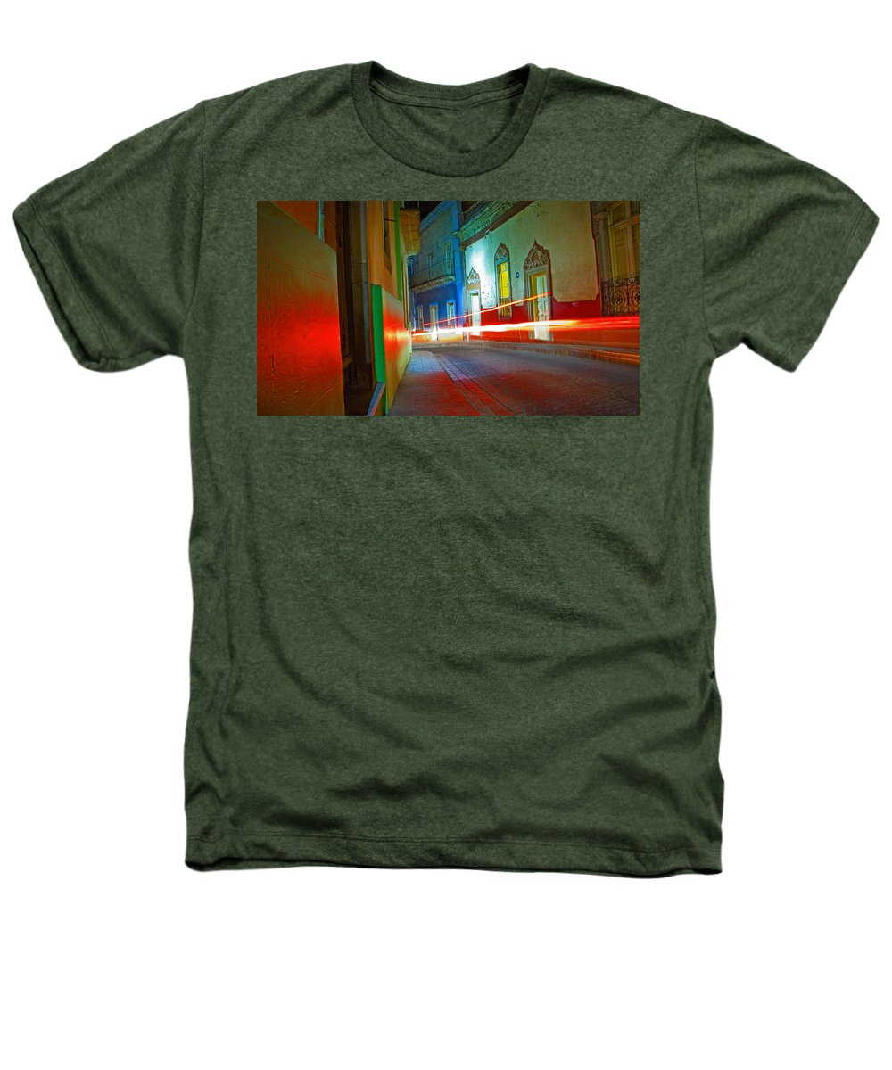 Shadow Heathers T-Shirt featuring the photograph Guanajuato Night by Skip Hunt