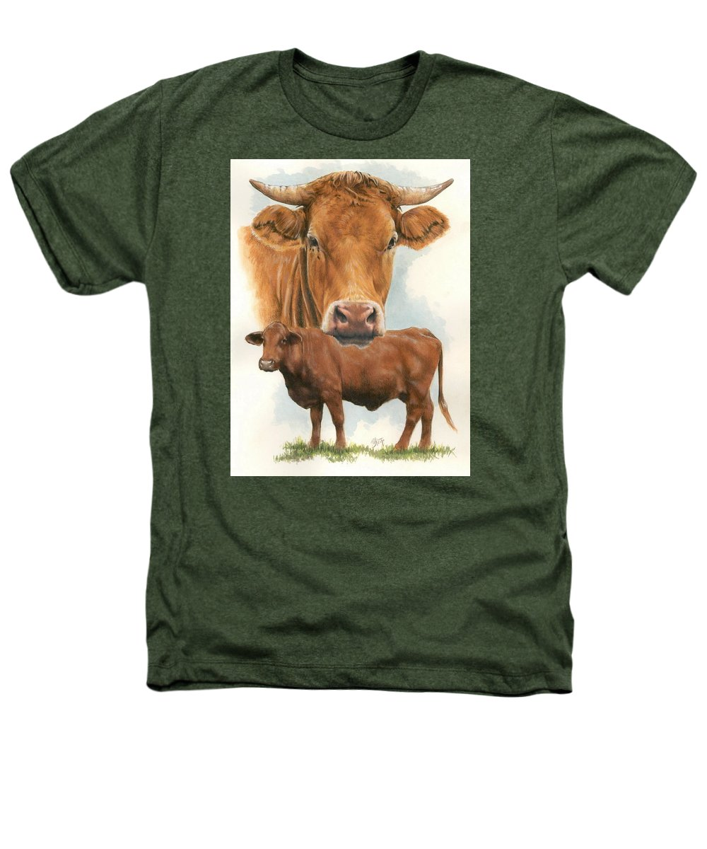 Cow Heathers T-Shirt featuring the mixed media Guernsey by Barbara Keith