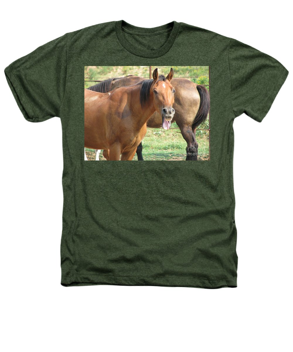 Horse Heathers T-Shirt featuring the photograph Haaaaa by Amanda Barcon