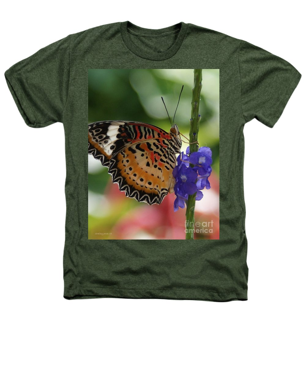 Butterfly Heathers T-Shirt featuring the photograph Hanging On by Shelley Jones