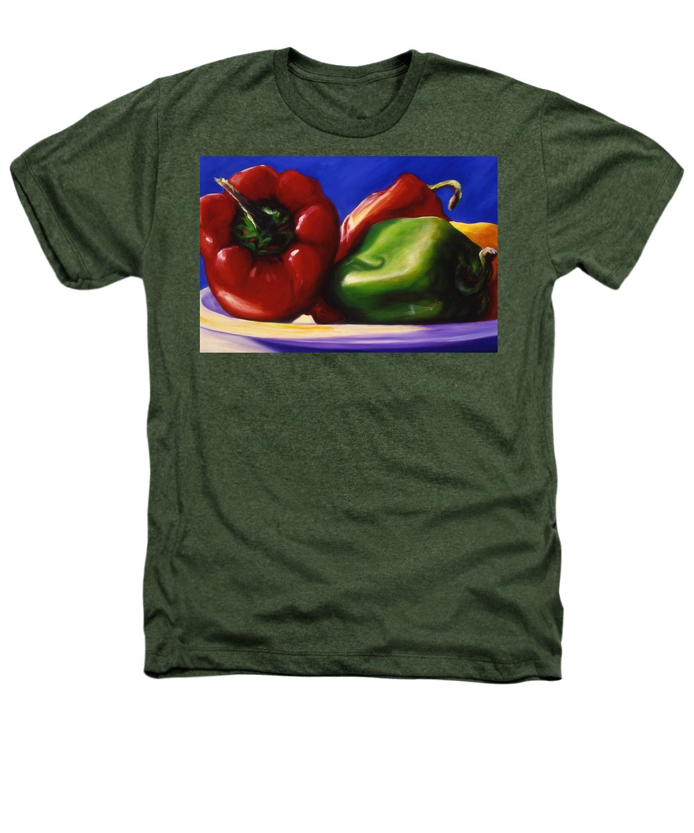 Still Life Heathers T-Shirt featuring the painting Harvest Festival Peppers by Shannon Grissom