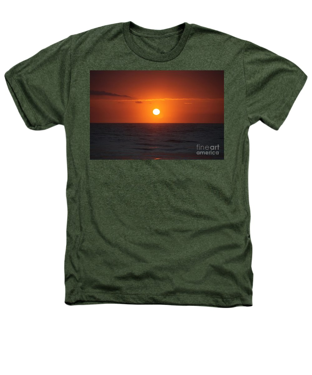 Sunrise Heathers T-Shirt featuring the photograph Hawaiian Sunrise by Nadine Rippelmeyer