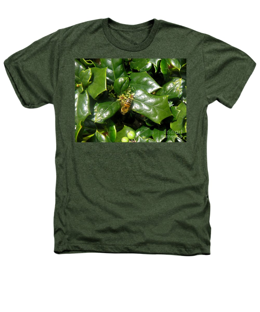 Nature Heathers T-Shirt featuring the photograph Head Over Heels In The Holly by Lucyna A M Green