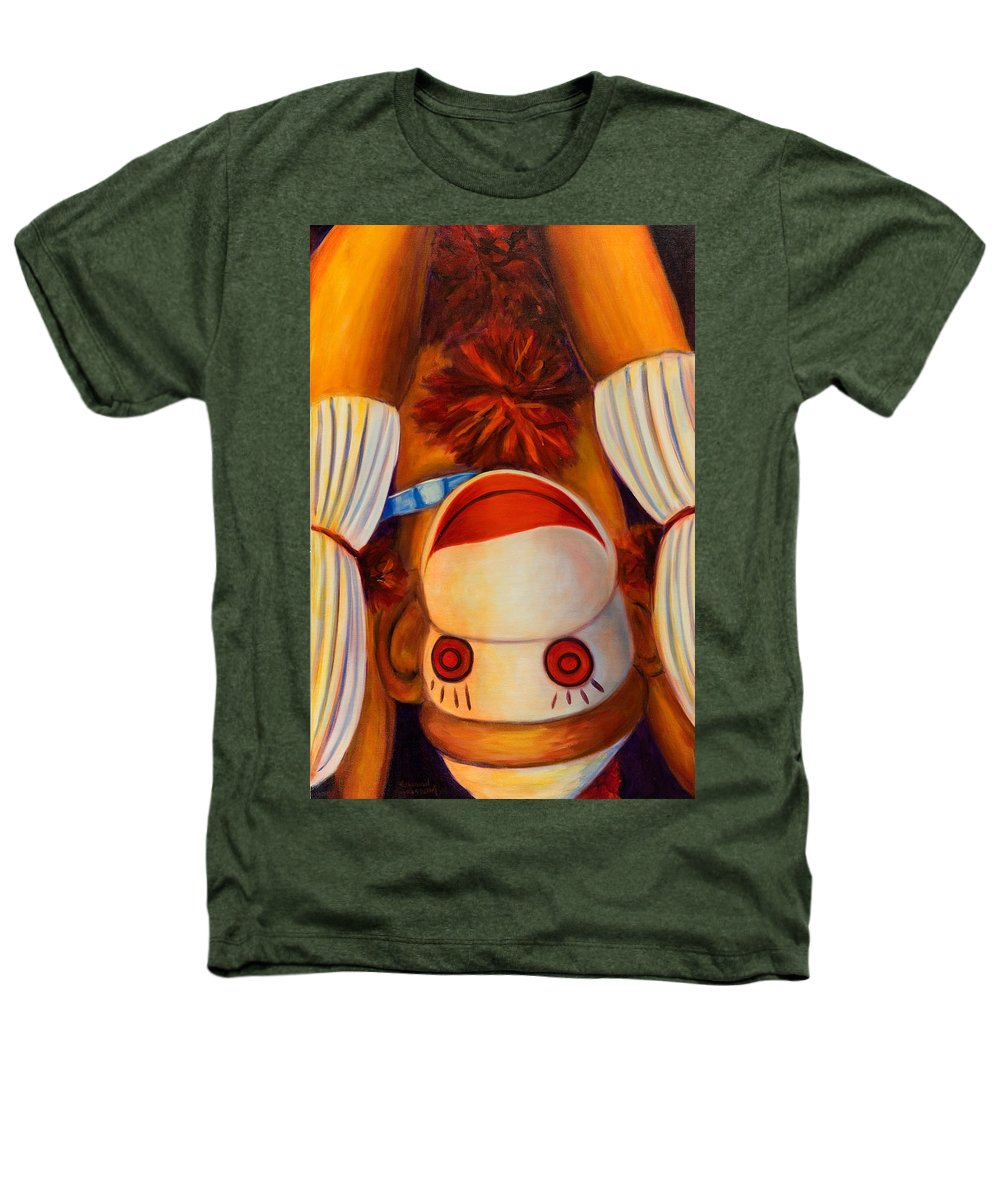 Children Heathers T-Shirt featuring the painting Head-over-heels by Shannon Grissom