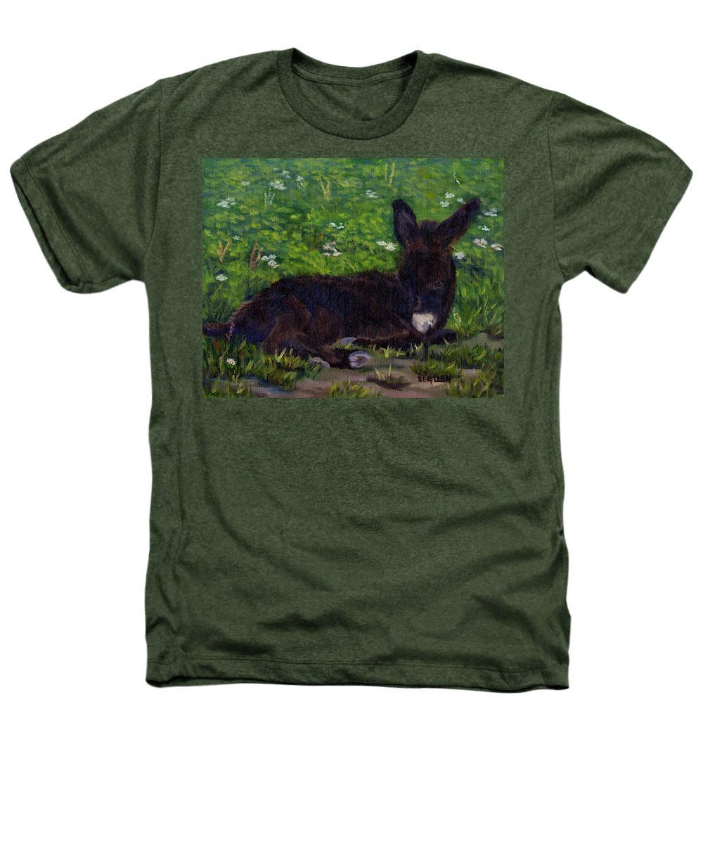 Donkey Heathers T-Shirt featuring the painting Hercules by Sharon E Allen