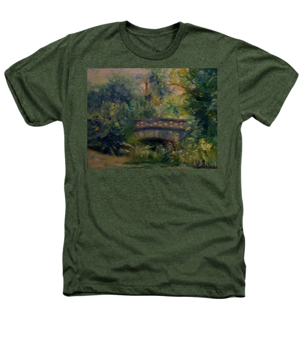 Landscape Heathers T-Shirt featuring the painting In The Park by Stephen King
