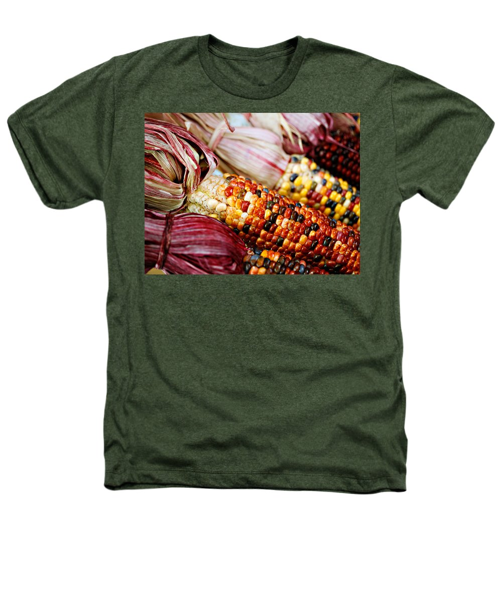 Corn Heathers T-Shirt featuring the photograph Indian Corn by Marilyn Hunt