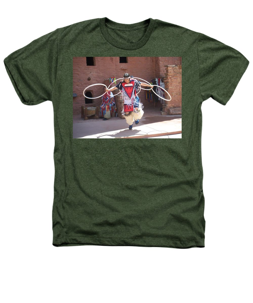 Indian Dancer Heathers T-Shirt featuring the photograph Indian Hoop Dancer by Anita Burgermeister