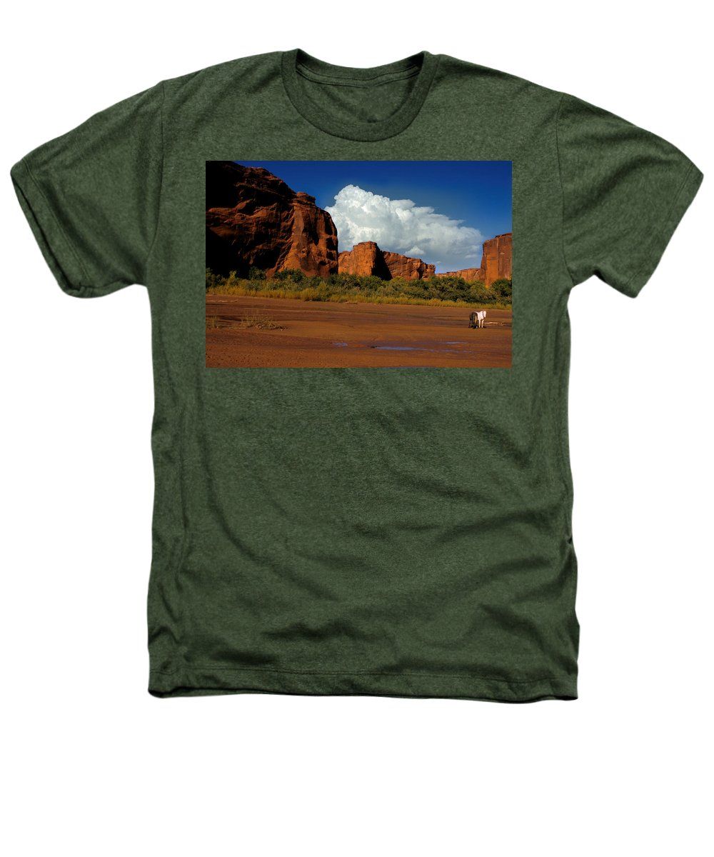 Horses Heathers T-Shirt featuring the photograph Indian Ponies In The Canyon by Jerry McElroy