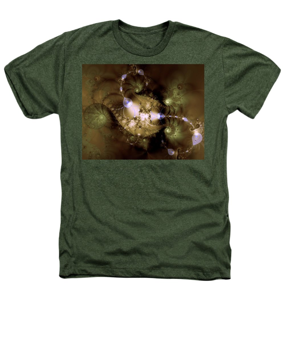 Dimension Heathers T-Shirt featuring the digital art Intergalactica by Casey Kotas