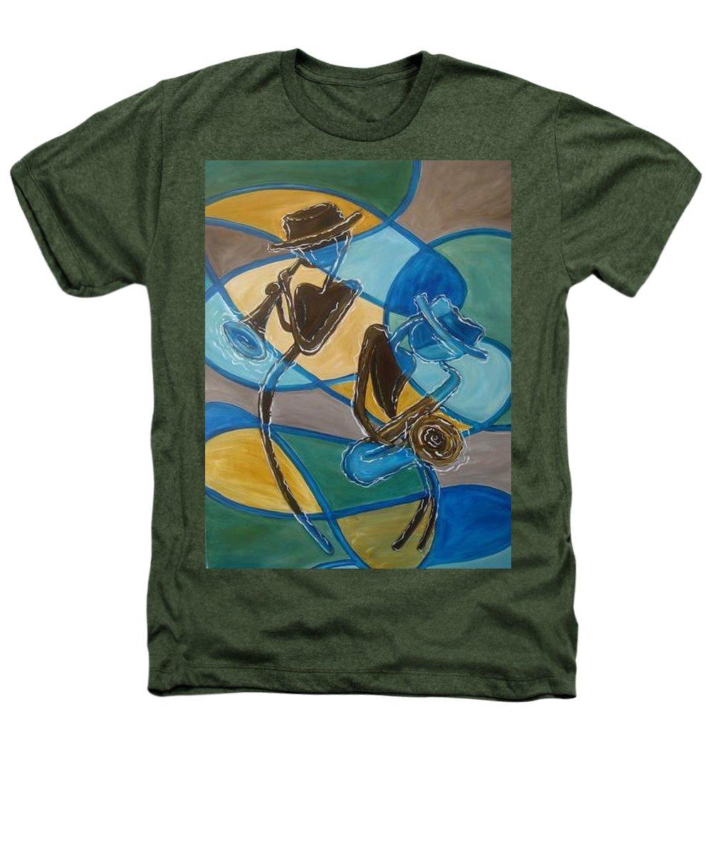Jazz Heathers T-Shirt featuring the painting Jazz Raz by Regina Walsh