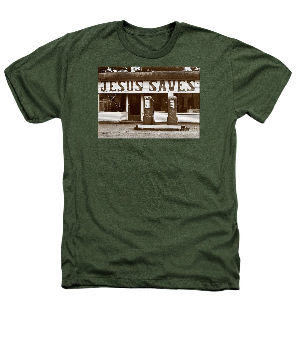 Jesus Heathers T-Shirt featuring the photograph Jesus Saves 1973 by Michael Ziegler