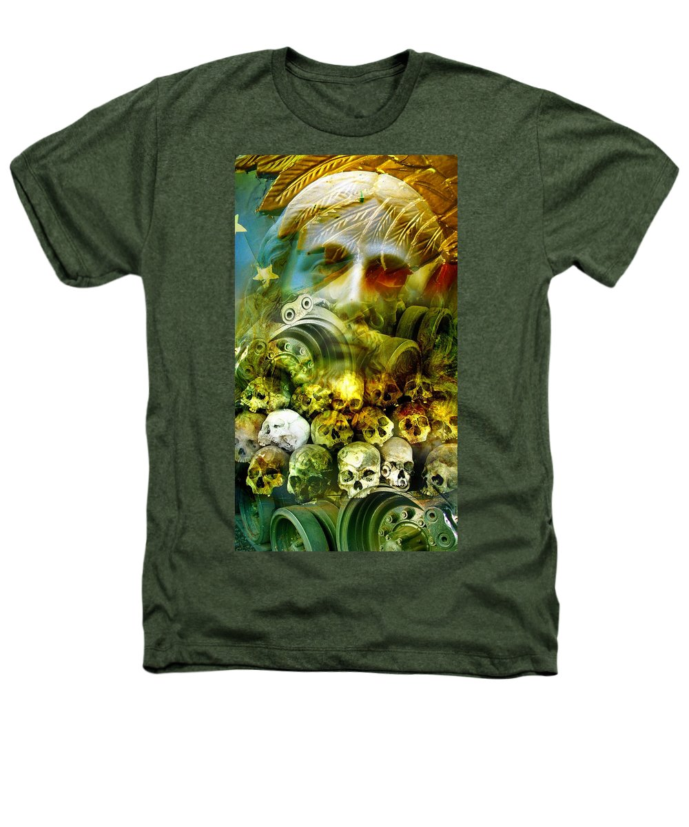Jesus Heathers T-Shirt featuring the photograph Jesus Wept by Skip Hunt