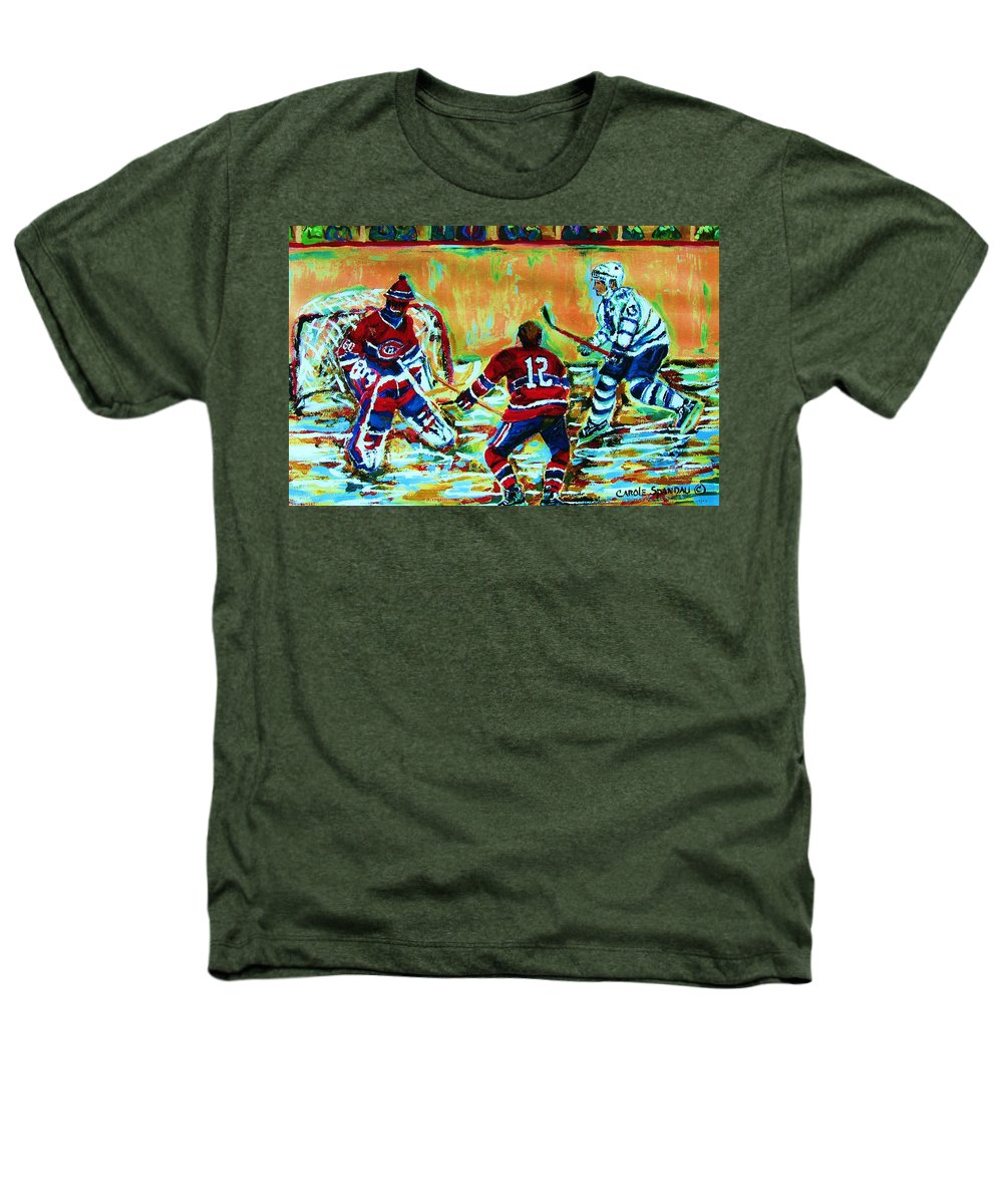 Hockey Canvas Prints Heathers T-Shirt featuring the painting Jose Theodore The Goalkeeper by Carole Spandau
