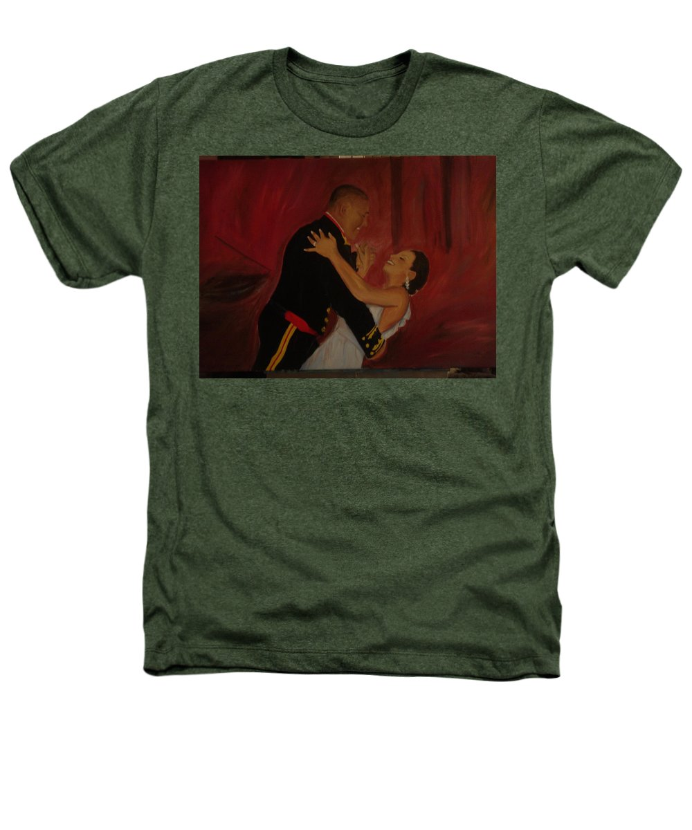 Marine Heathers T-Shirt featuring the painting Just Married by Regina Walsh