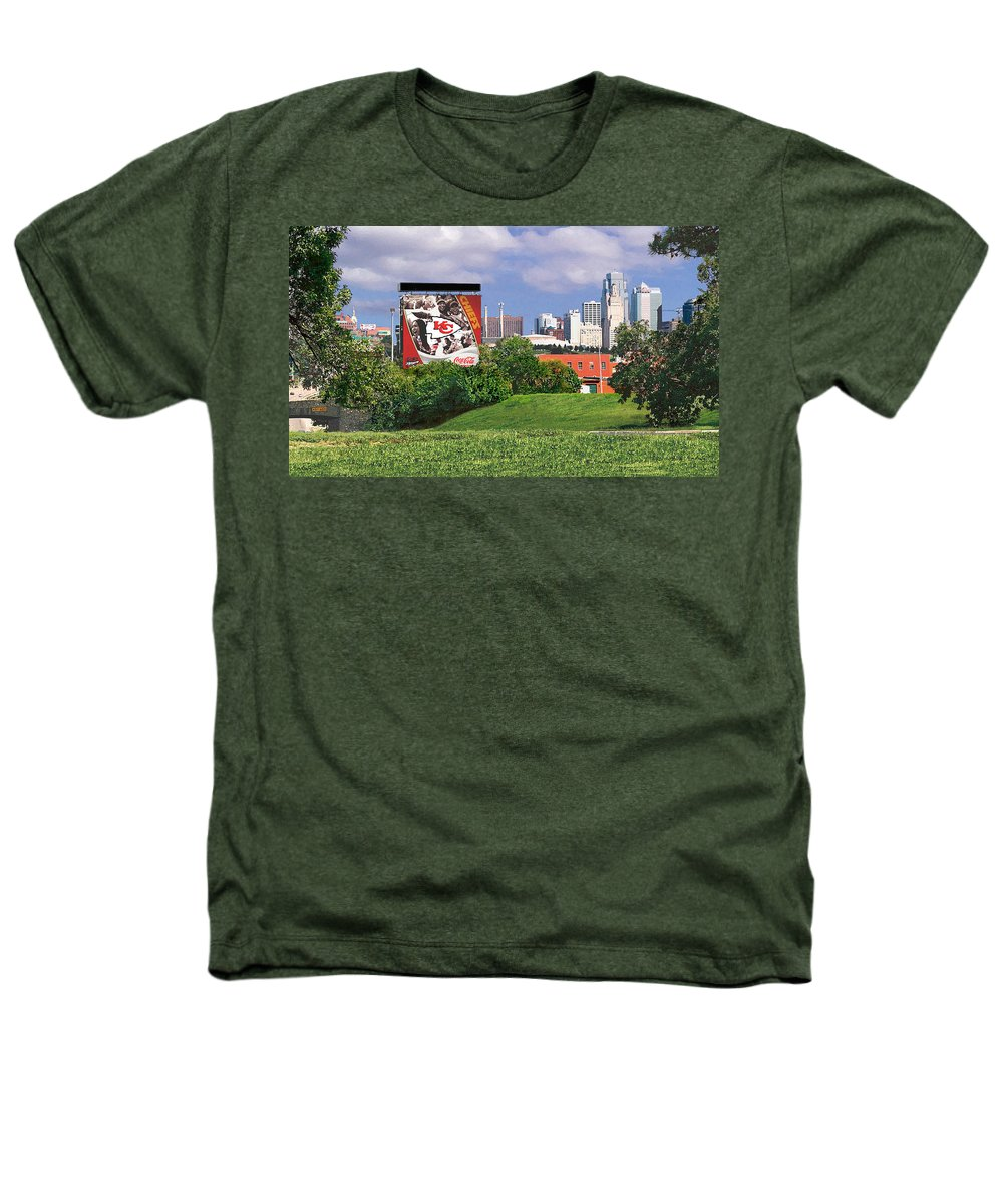 Landscape Heathers T-Shirt featuring the photograph Kansas City Sky Line by Steve Karol