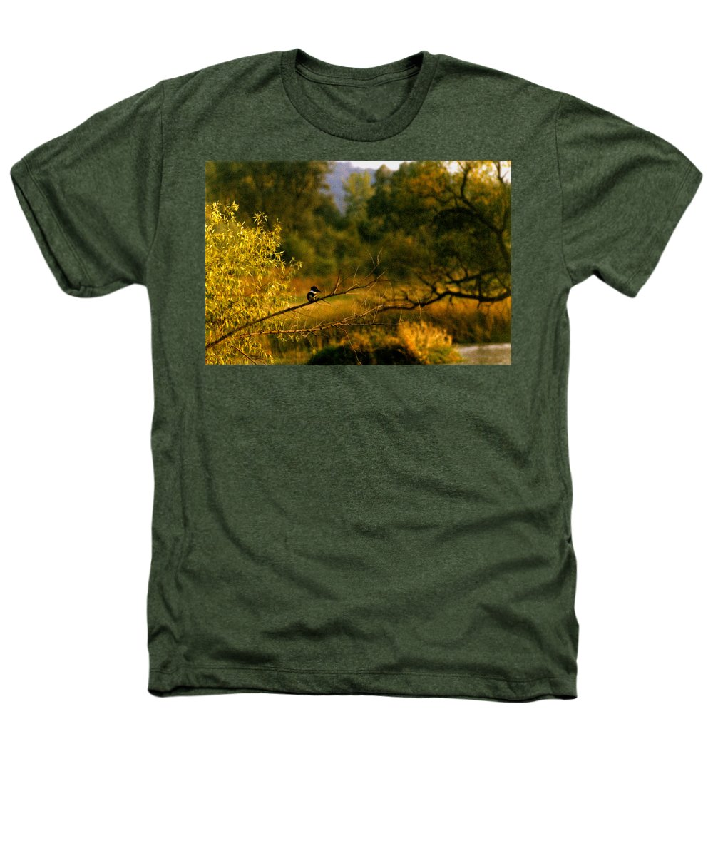 Landscape Heathers T-Shirt featuring the photograph King Fisher by Steve Karol