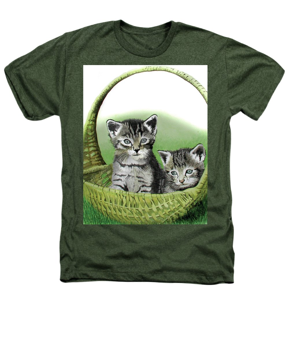 Cat Heathers T-Shirt featuring the painting Kitty Caddy by Ferrel Cordle
