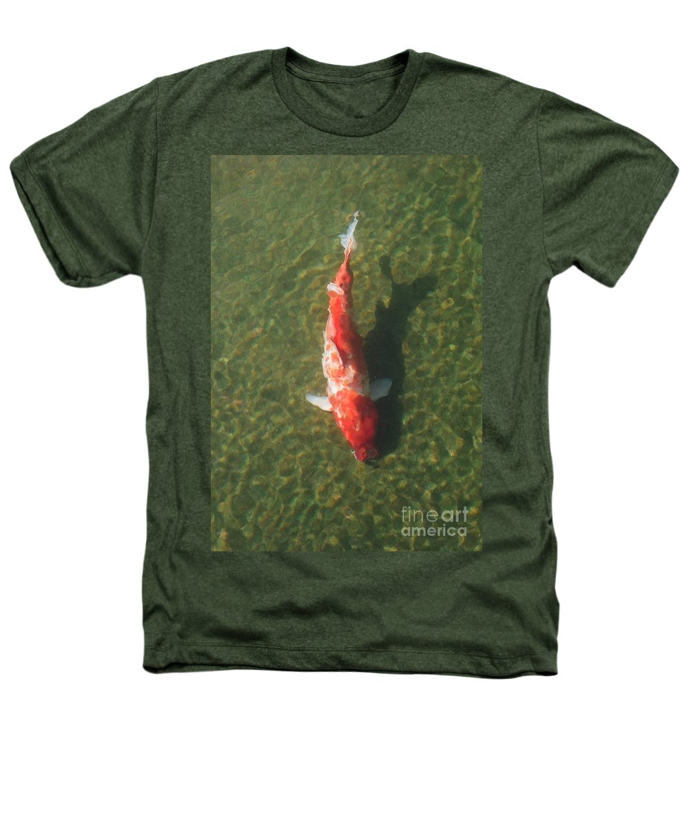 Koi Heathers T-Shirt featuring the photograph Koi by Dean Triolo