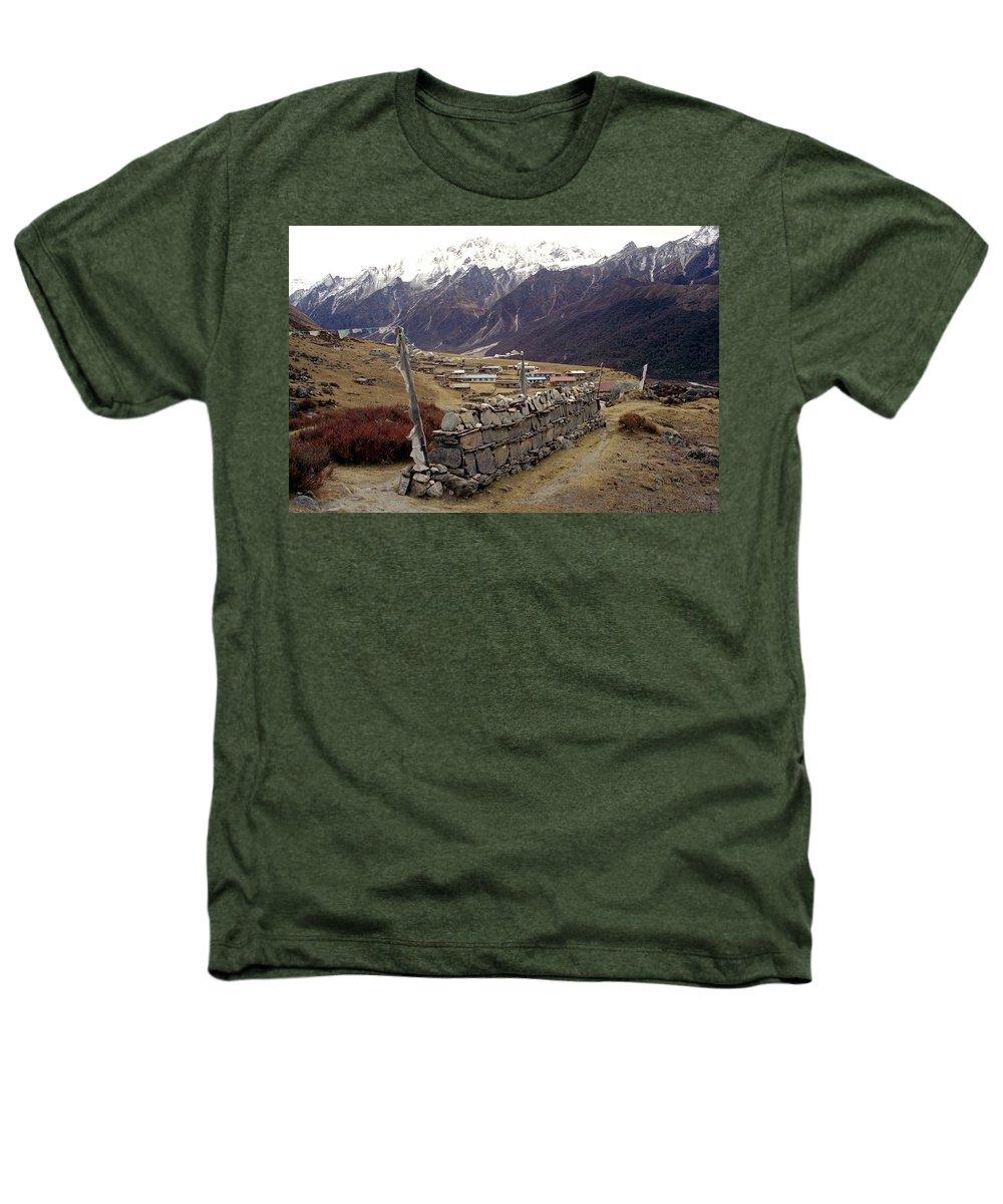 Langtang Heathers T-Shirt featuring the photograph Kyanjin Gompa by Patrick Klauss