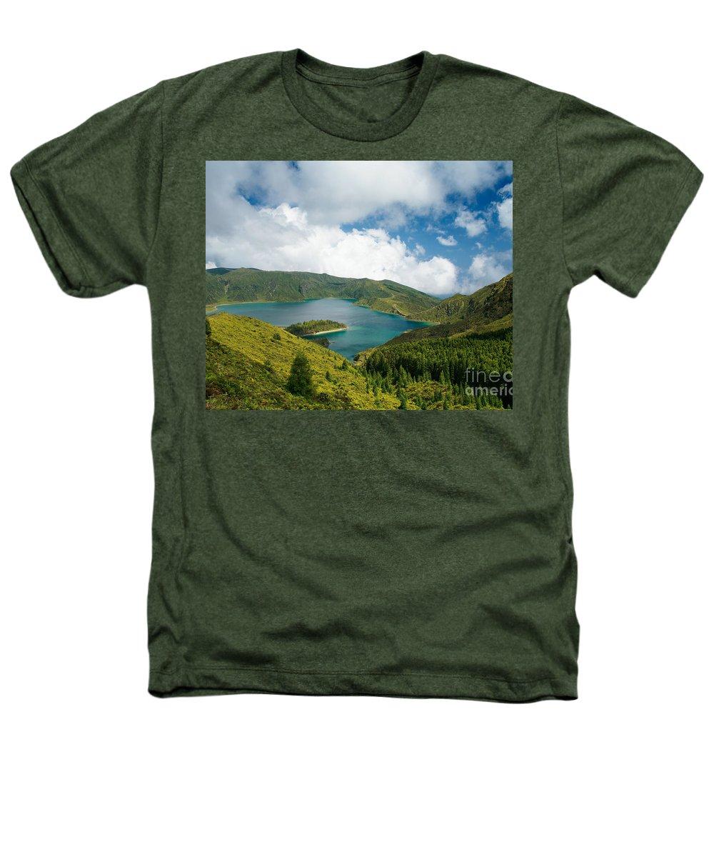 Lagoa Do Fogo Heathers T-Shirt featuring the photograph Lagoa Do Fogo by Gaspar Avila