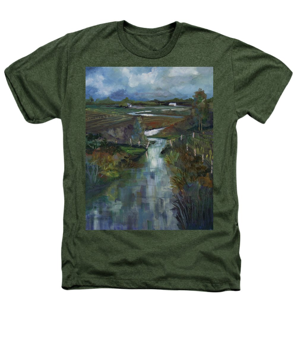River Heathers T-Shirt featuring the painting Laramie River Valley by Heather Coen