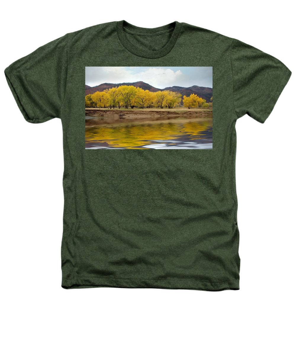 River Heathers T-Shirt featuring the photograph Las Animas Fall by Jerry McElroy