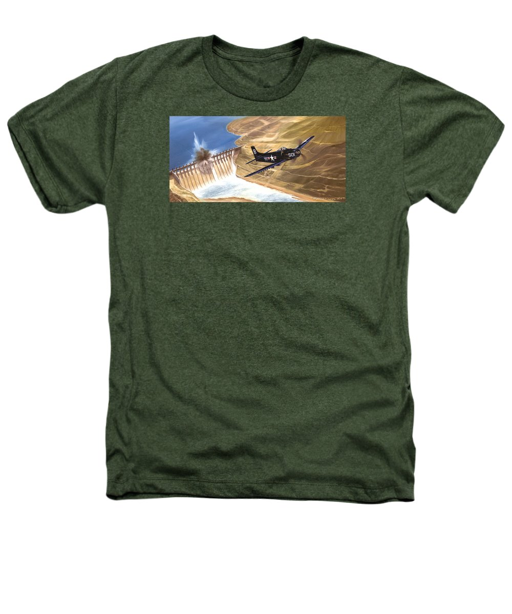 Military Heathers T-Shirt featuring the painting Last Of The Dambusters by Marc Stewart