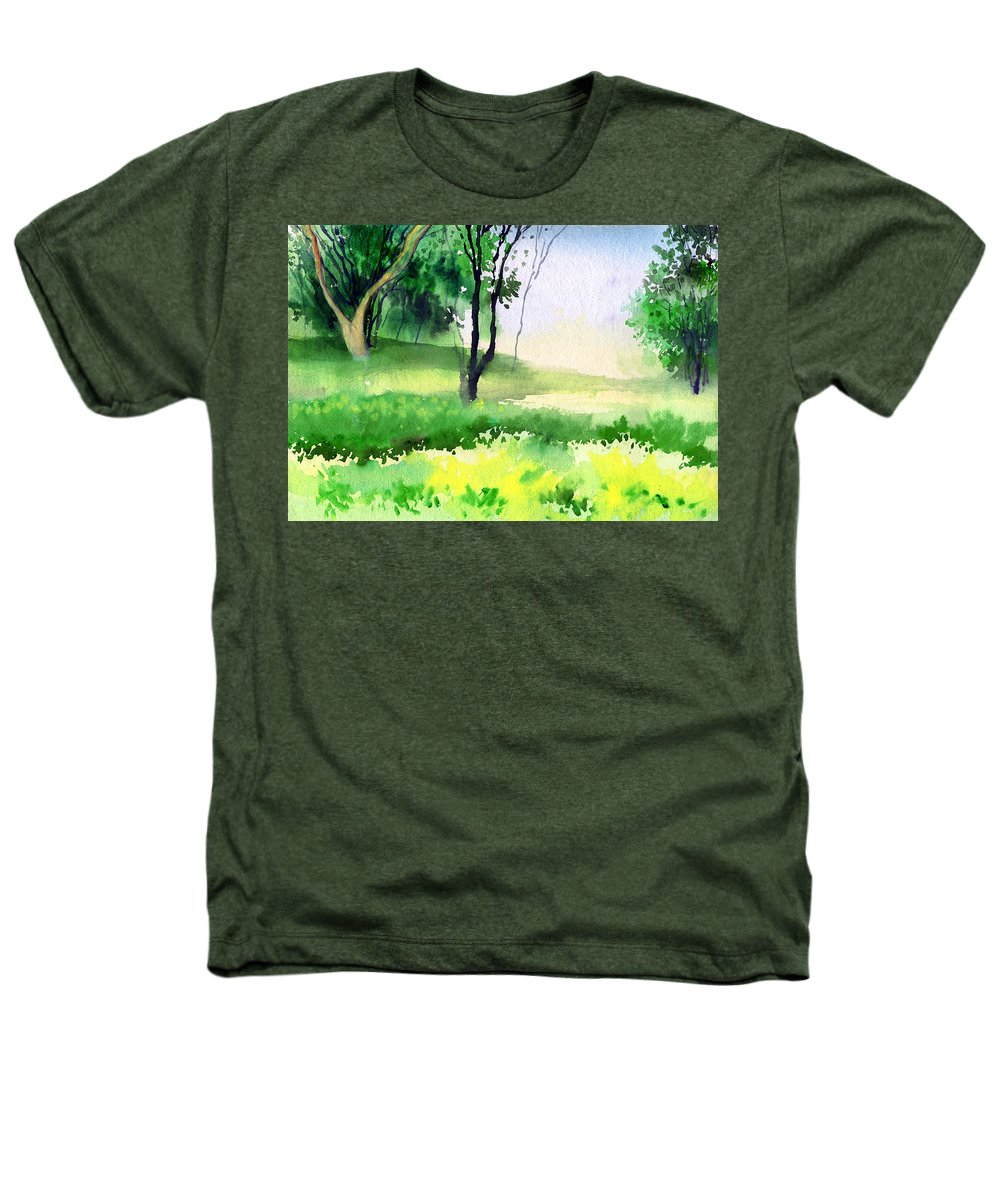 Watercolor Heathers T-Shirt featuring the painting Let's Go For A Walk by Anil Nene