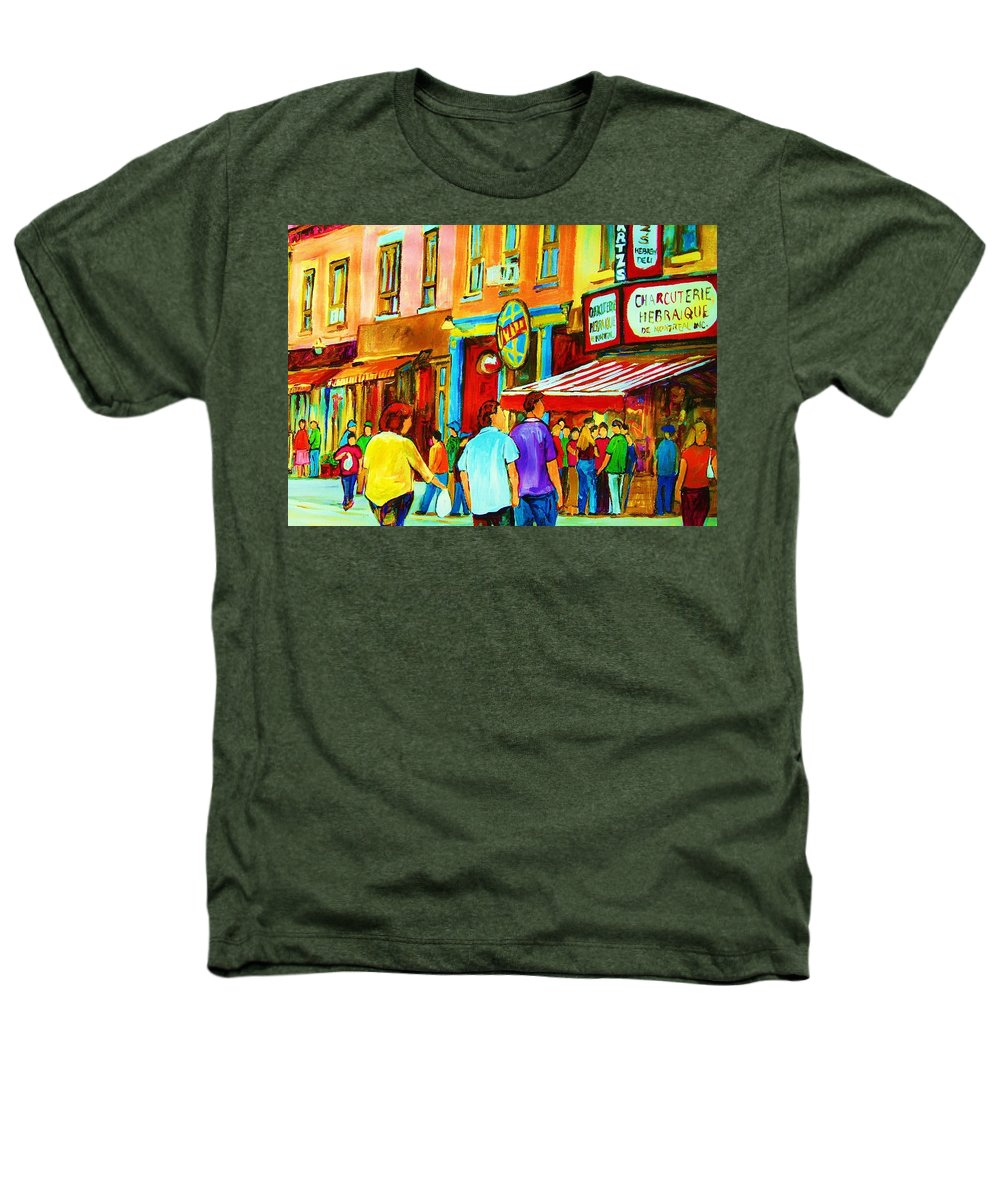 Cityscape Heathers T-Shirt featuring the painting Lets Meet For Lunch by Carole Spandau
