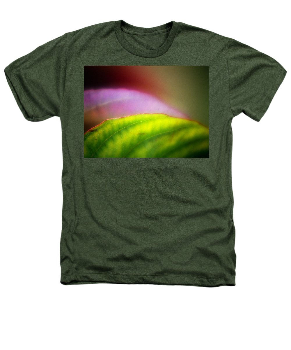 Macro Heathers T-Shirt featuring the photograph Macro Leaf by Lee Santa