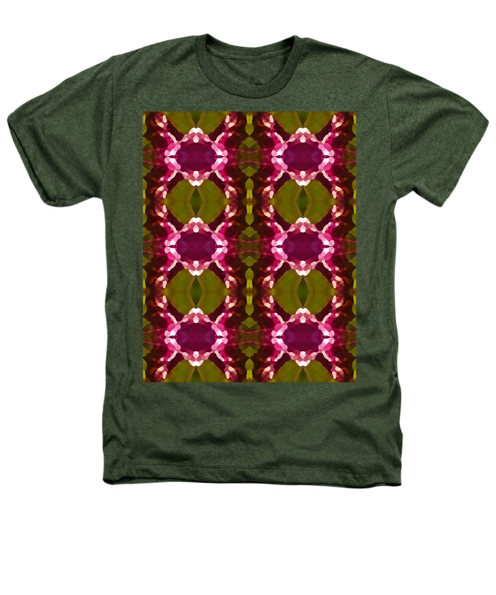Abstract Heathers T-Shirt featuring the painting Magenta Crystal Pattern by Amy Vangsgard