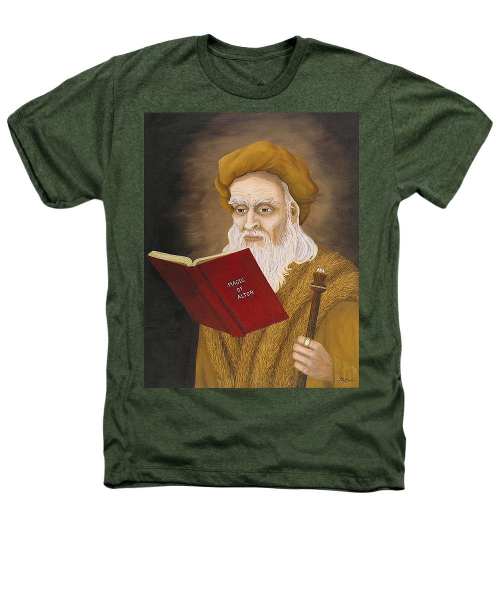 Magic Heathers T-Shirt featuring the painting Magic Of Alton by Roz Eve