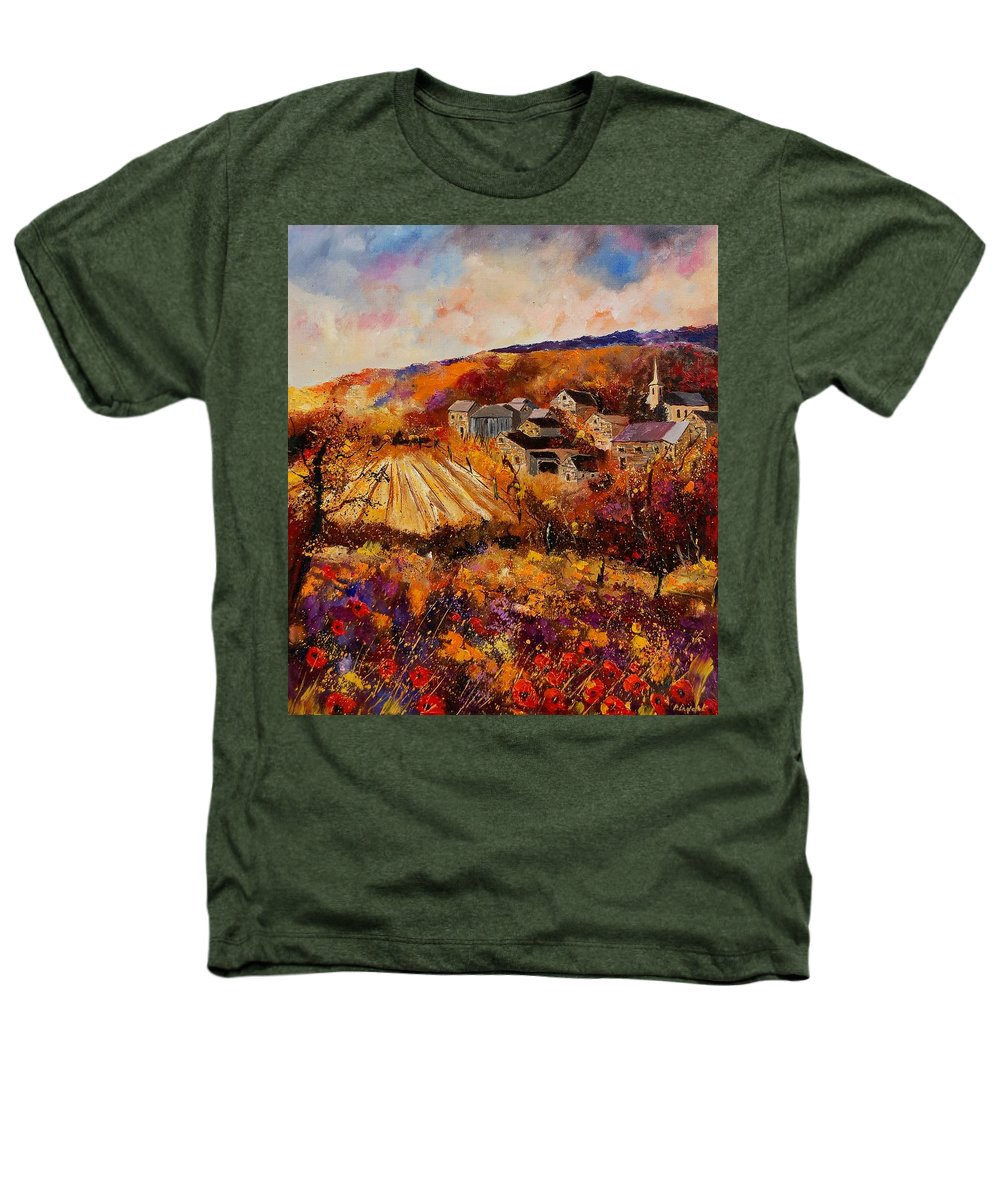 Poppies Heathers T-Shirt featuring the painting Maissin by Pol Ledent