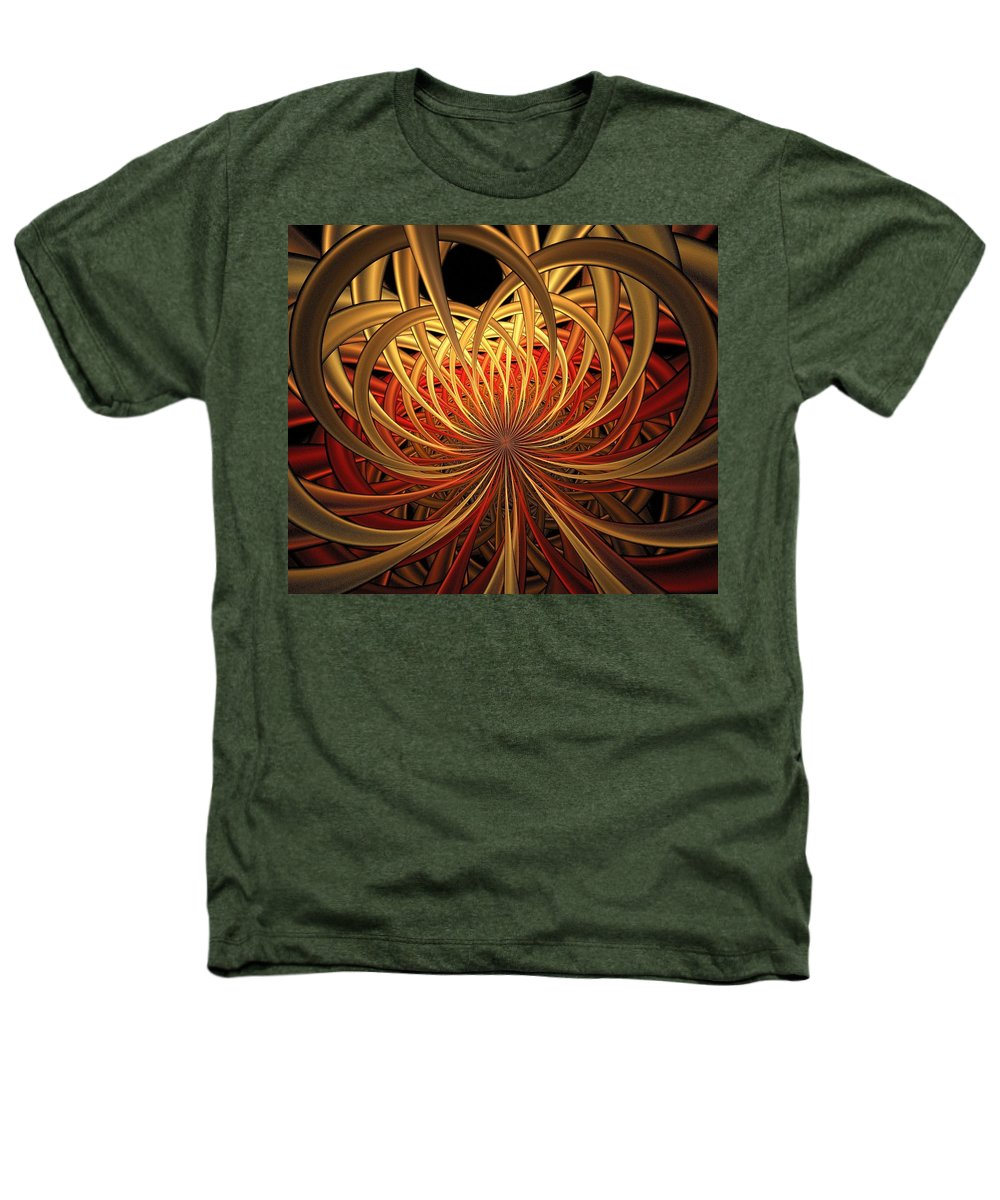 Digital Art Heathers T-Shirt featuring the digital art Marigold by Amanda Moore