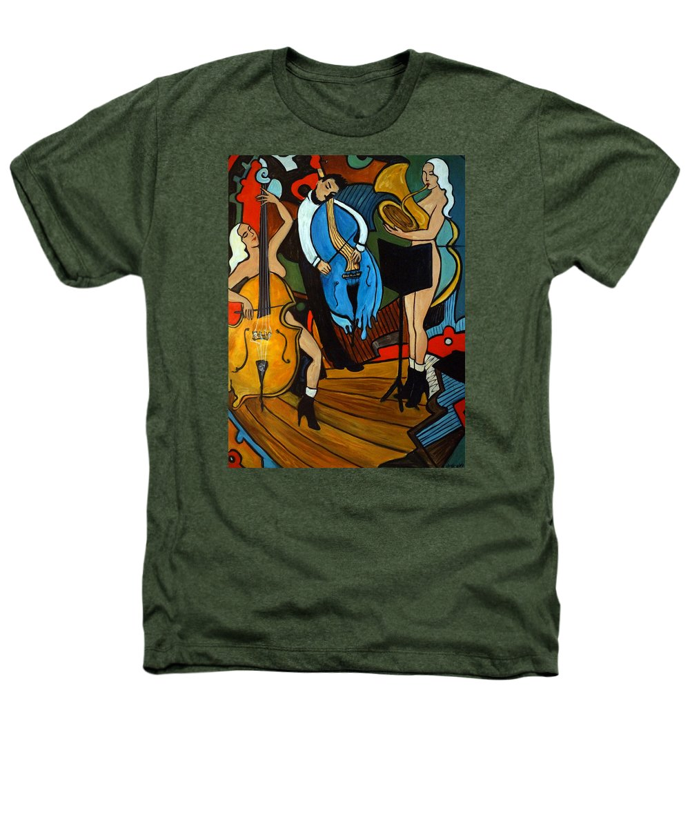 Musician Abstract Heathers T-Shirt featuring the painting Melting Jazz by Valerie Vescovi