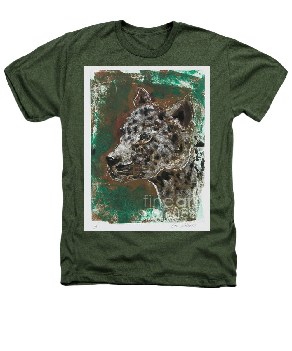 Monotype Heathers T-Shirt featuring the mixed media Midnight Prowler by Cori Solomon