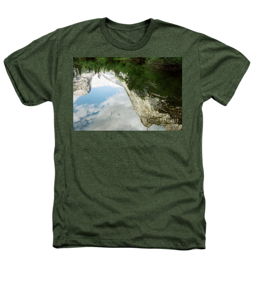 Mirror Lake Heathers T-Shirt featuring the photograph Mirrored by Kathy McClure