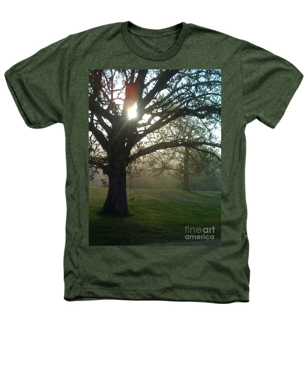 Mist Heathers T-Shirt featuring the photograph Misty Morning by Nadine Rippelmeyer