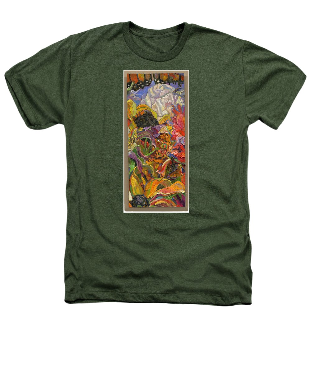 Flowers Heathers T-Shirt featuring the painting Monarch Mountain by Juel Grant