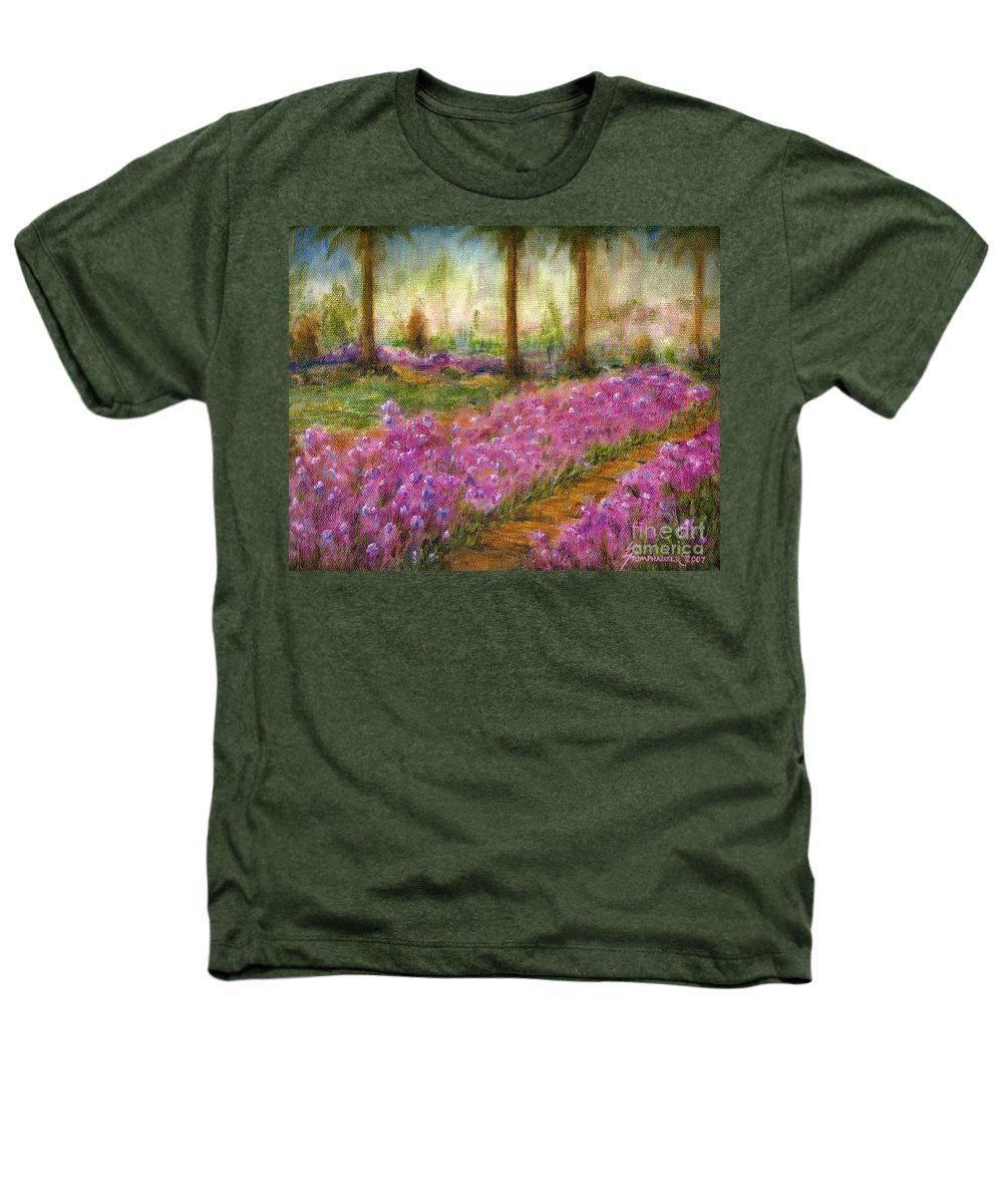 Monet Heathers T-Shirt featuring the painting Monet's Garden In Cannes by Jerome Stumphauzer
