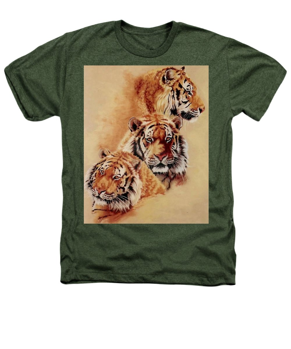 Tiger Heathers T-Shirt featuring the pastel Nanook by Barbara Keith