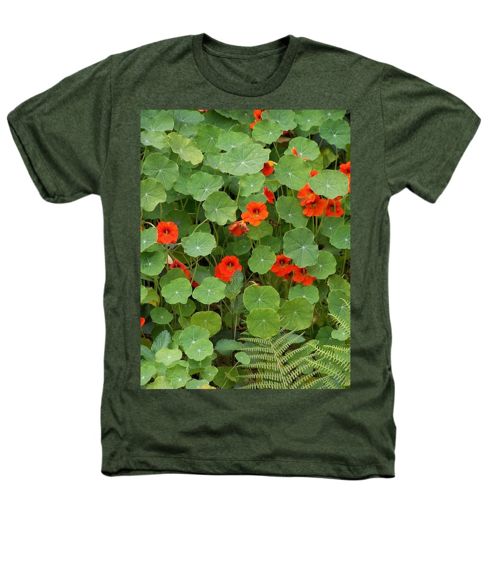 Nasturtiums Heathers T-Shirt featuring the photograph Nasturtiums by Gale Cochran-Smith
