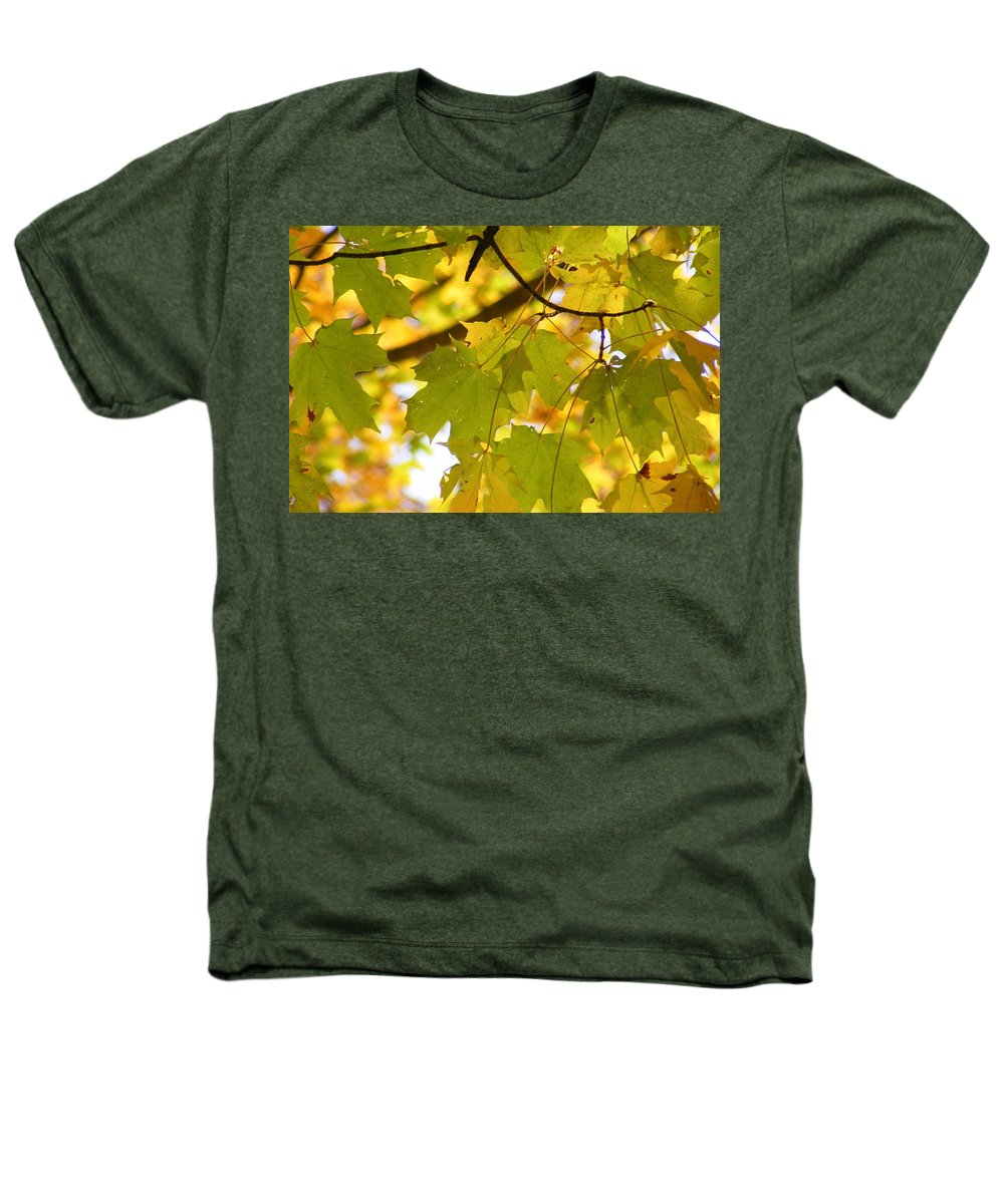 Leaves Heathers T-Shirt featuring the photograph Natures Glow by Ed Smith