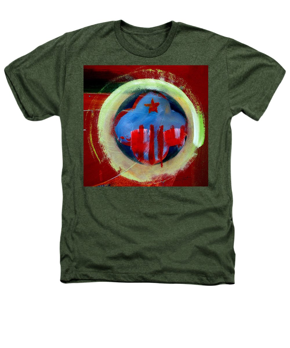 American State Heathers T-Shirt featuring the painting Nebraska by Charles Stuart